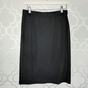 St John Caviar Santana Knit Black Pencil Skirt